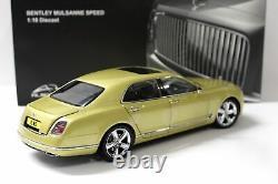 118 Almost Real Bentley Mulsanne Speed 2017 Julep yellow metallic
