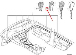 BMW 5 E39 5 Speed Gear Shift Leather Knob Wood 25111434721 1434721 NEW GENUINE