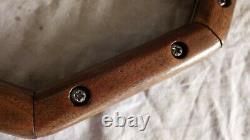Vintage Octagon Wood Steering Wheel Hot Rod Muscle Car Boogie Van REAL DEAL COOL
