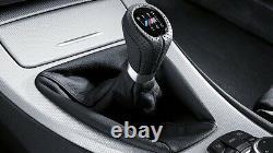 Bmw Nouveau Véritable E90 E91 E93 M Gear Shift Knob Gaiter En Cuir Noir 6 Speed Lhd