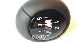 Bmw Série 3 E46 M Commutateur De Changement De Vitesse Bâton 5 Vitesse. Cuir 25117896031. Véritable
