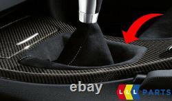 Bmw Véritable 3' E90 E92 E93 Knob De Vitesse De Performance 6 Avec Alcantara Gaiter