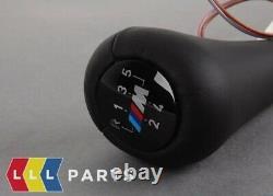 Nouveau Véritable Bmw Z3 E36 Leather Illumination M 5 Speed Shift Knob 25112229895
