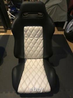 Sièges En Cuir Recaro Sr / Speed Avec Bmw Sur Mesure E30 Brackets/genuine Recaro Slider